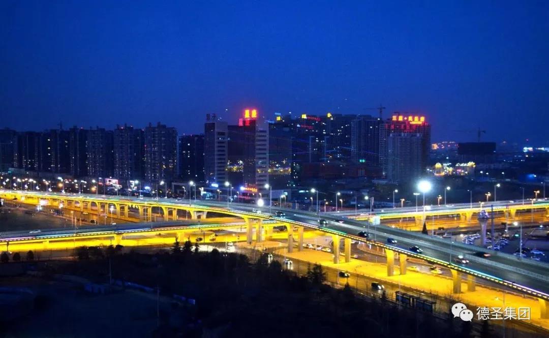 临汾市迎宾大道和滨河东路立交桥