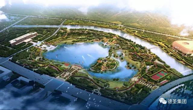 吕梁市新城湖面景观